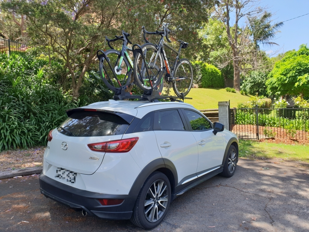 Mazda CX3 with Yakima FrontLoaders