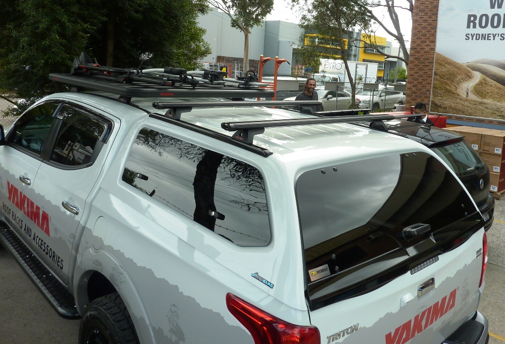 Mitsubishi Triton with Yakima Lock n' Load Platform and Racks