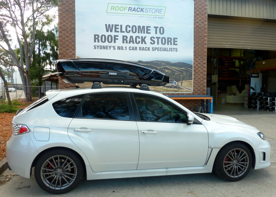 Subaru WRX with Thule Motion Sport