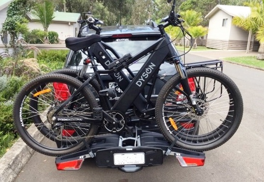 Thule EasyFold 933 with Dyson Electric bikes.