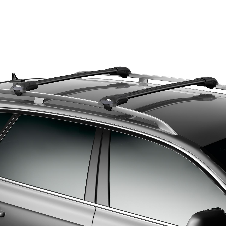 thule wingbar edge roof rails black rt 95842 instore. Black Bedroom Furniture Sets. Home Design Ideas