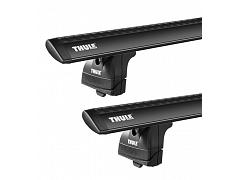 Thule roof racks for Audi A6 Wagon, 5dr Wagon with Solid Roof Rails 08-2005 - 2010, WingBar Evo Black