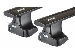 Thule roof racks for Volvo S 60, 4dr Sedan 12-2010 on, WingBar Evo Black