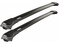 Thule roof racks for Alfa Romeo 159, 5dr Wagon with Roof Rails 06-2006 on, WingBar Edge Black