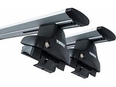 Thule roof racks for Hyundai Elantra , 4dr Sedan 08-2006 - 05-2011, WingBar Evo Silver