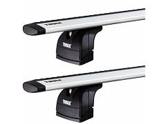 Thule roof racks for Kia Carnival, 5dr with Track 10-2003 - 02-2007, WingBar Evo Silver