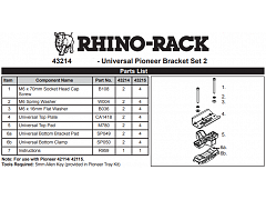 Rhino-Rack Universal Pioneer Bracket Kit 43214
