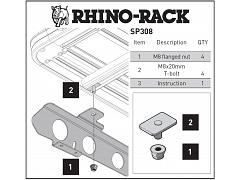 Rhino-Rack New Pioneer Adapter For Backbone SP308