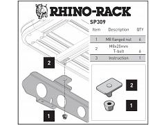 Rhino-Rack New Pioneer Adapter For Backbone SP309