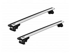 Thule roof racks for Audi A4 Allroad, 5dr Wagon with Roof Rails 2016 on, WingBar Evo Silver