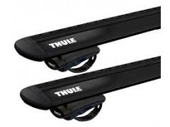 Thule roof racks for Audi A4 Allroad, 5dr Wagon with Roof Rails 2016 on, WingBar Evo Black