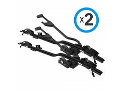 Thule ProRide 598 Black Twin Pack 2 x 598B Free Key Alike