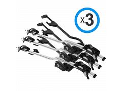 Thule ProRide 598 Silver TRIPLE PACK 3 x  598