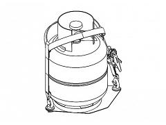 Yakima Gas Bottle Holder 8005034
