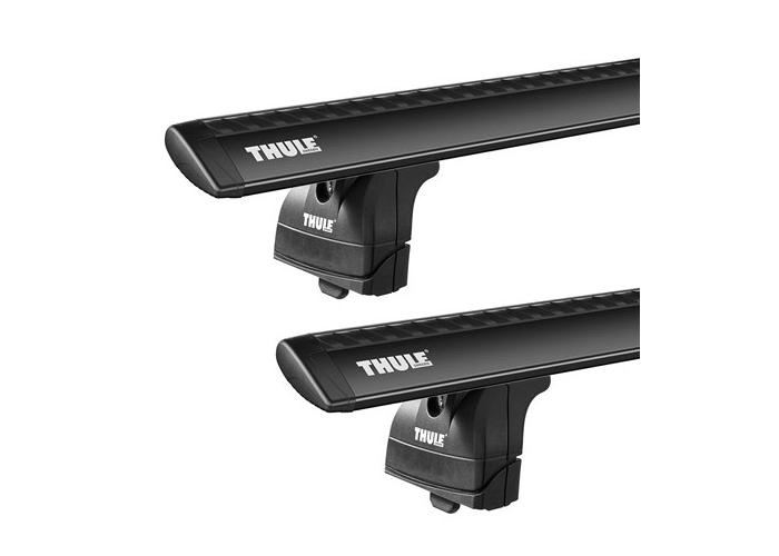 Thule roof racks for Mitsubishi Eclipse Cross, 5dr Wagon with Solid Roof Rails 2017 on, WingBar Black