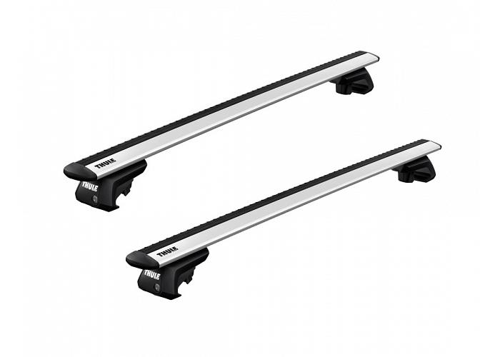 Thule roof racks for Subaru Outback, 5dr Wagon with Roof Rails 09-1996 - 09-2003, WingBar Evo Silver