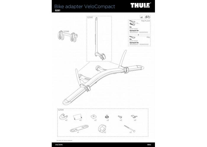 Thule VeloCompact 9261 4th Bike Add-On