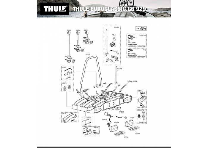 Thule EuroClassic 929 AU G6 Tow ball 3 Bike Carrier
