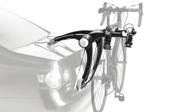 It's safe, simple and secure. The Thule Raceway 991 two bike Lockable clip on carrier is the creme de la creme of the strap on rack world.